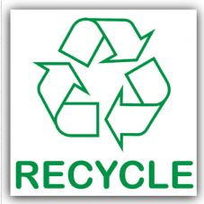 1 x Recycle Recycling Bin Adhesive Sticker-Recycle Logo Sign-Environment Label